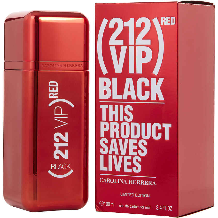 212 Vip Black Eau De Parfum Spray (Red Edition) 3.4 oz