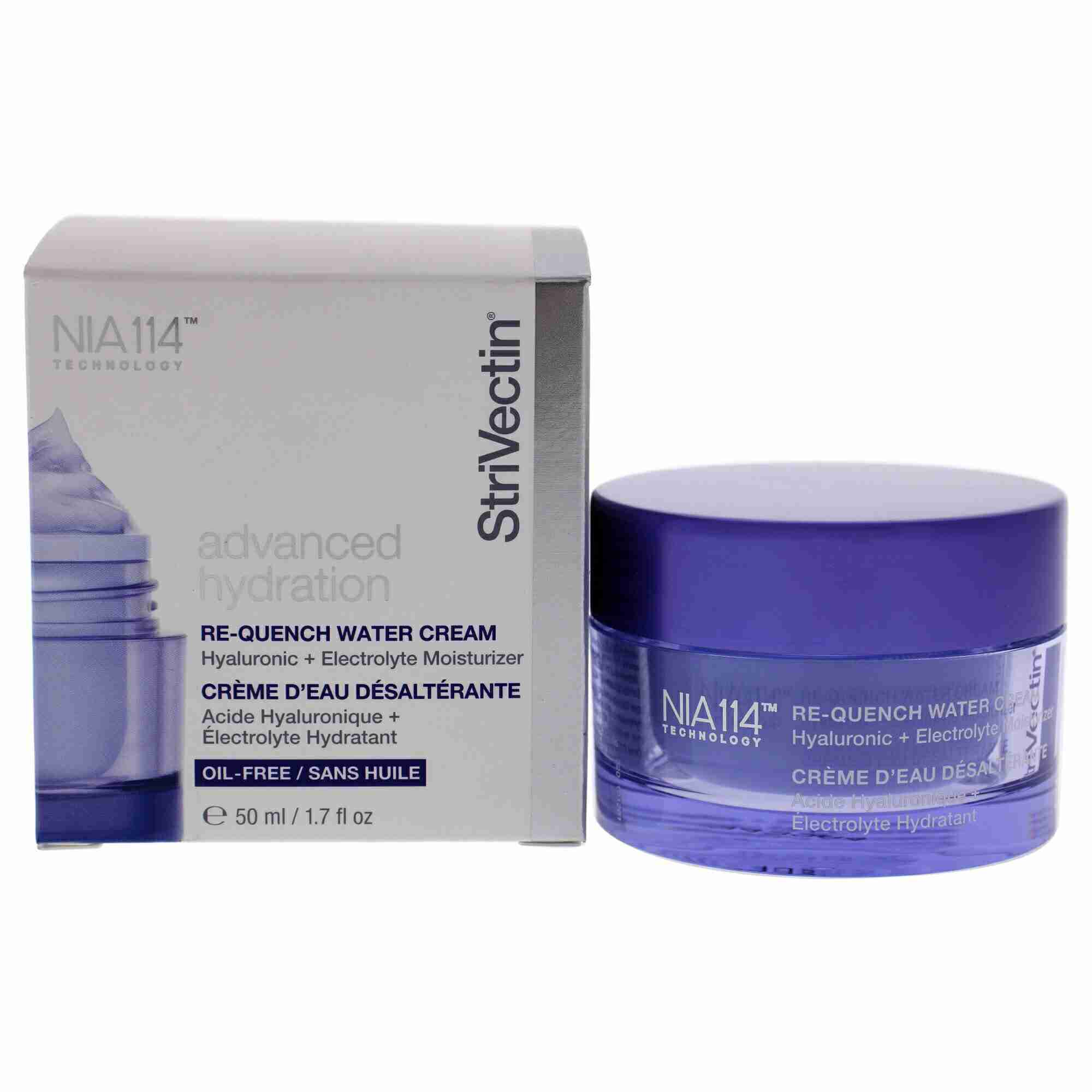 Strivectin Advanced Hydration Re-Quench Water Cream - Hyaluronic + Electrolyte Moisturizer (Oil-Free) 50ml/1.7oz