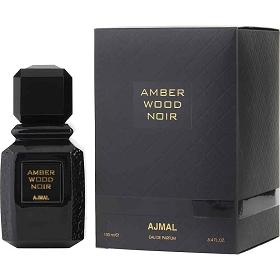 Ajmal Amber Wood Noir Eau De Parfum Spray 3.4 oz