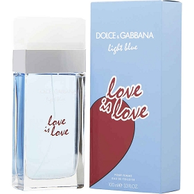 D & G Light Blue Love Is Love Eau De Toilette Spray 3.4 oz