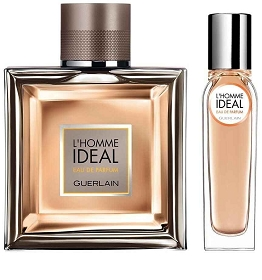 Guerlain L'Homme Ideal Eau De Parfum Spray 3.4 oz & Eau De Parfum Travel Spray 0.5 oz