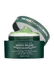 Peter Thomas Roth Green Releaf Therapeutic Sleep Cream Skin Protectant - Renewing Night Moisturizer (Exp. Date: 07/2021) 50ml/1.7oz